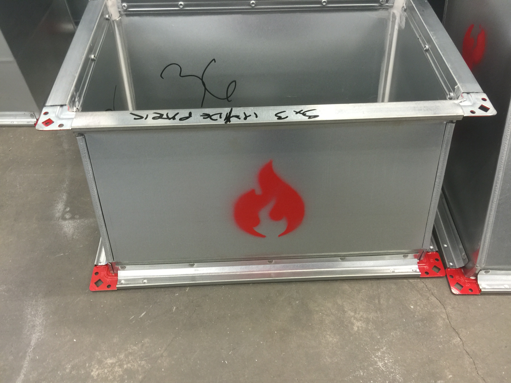 fire rated ductwork section