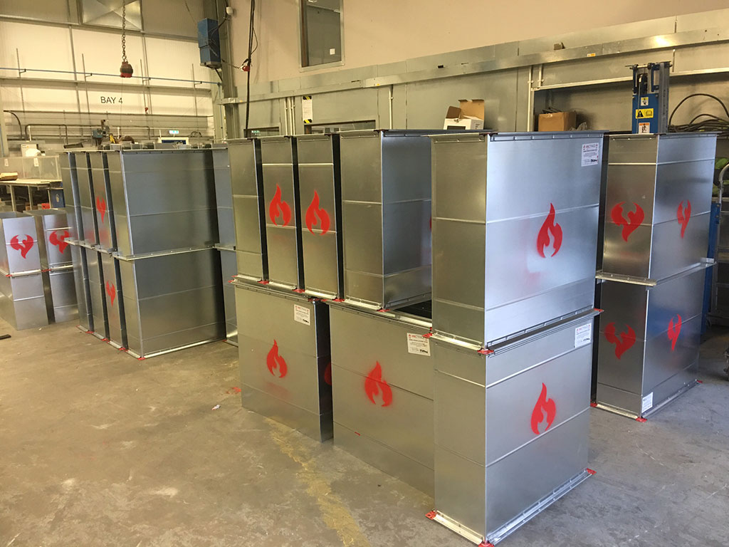 fire rated ductwork soon to be delivered